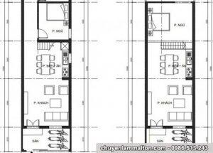 xin bản vẽ mẫu nhà cấp 4 mái tôn 4.5 x 15m