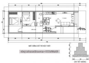 xin bản vẽ mẫu nhà cấp 4 mái tôn 66m2