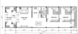 Bản vẽ nhà cấp 4 mái thái nông thôn giá rẻ 5x20m