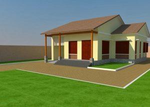Bản vẽ nhà cấp 4 ở nông thôn mái thái 13x14m