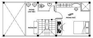 bản vẽ tầng lửng thiết kế mẫu nhà gác lửng 4x12 m