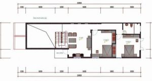 bản vẽ thiết kế nhà gác lửng 5x20m