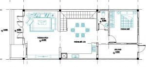 bản thiết kế nhà gác lửng 4x10m