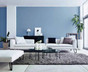 Màu sơn phòng khách hợp với người mệnh Thủy