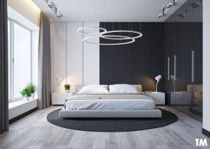 Phòng ngủ màu đen – trắng