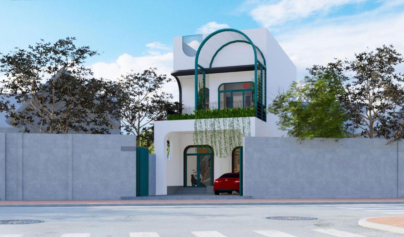 Mẫu nhà phố đẹp 2 tầng cách điệu