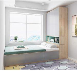 giường kết hợp tủ đa dụng