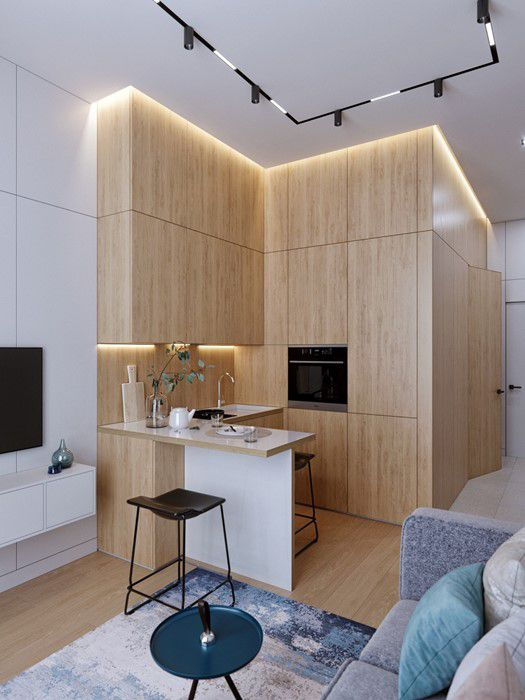 Những mẫu nhà bếp nhỏ đẹp 2021 - Mẫu 1