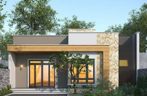 Mẫu nhà cấp 4 đẹp 2020 giá 300 triệu phong cách mái bằng hiện đại với không gian mở