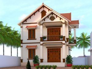 Mẫu 3: Mẫu nhà 2 tầng giá rẻ mái thái