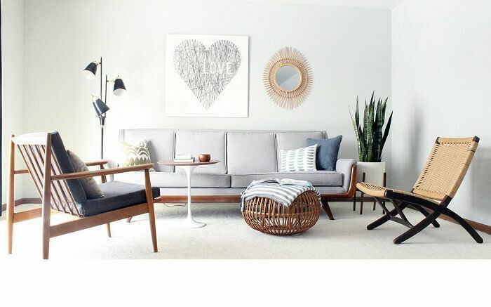 trang trí nhà với sofa