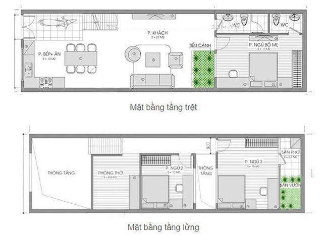 Đặc điểm của những mẫu nhà gác lửng 3 phòng ngủ